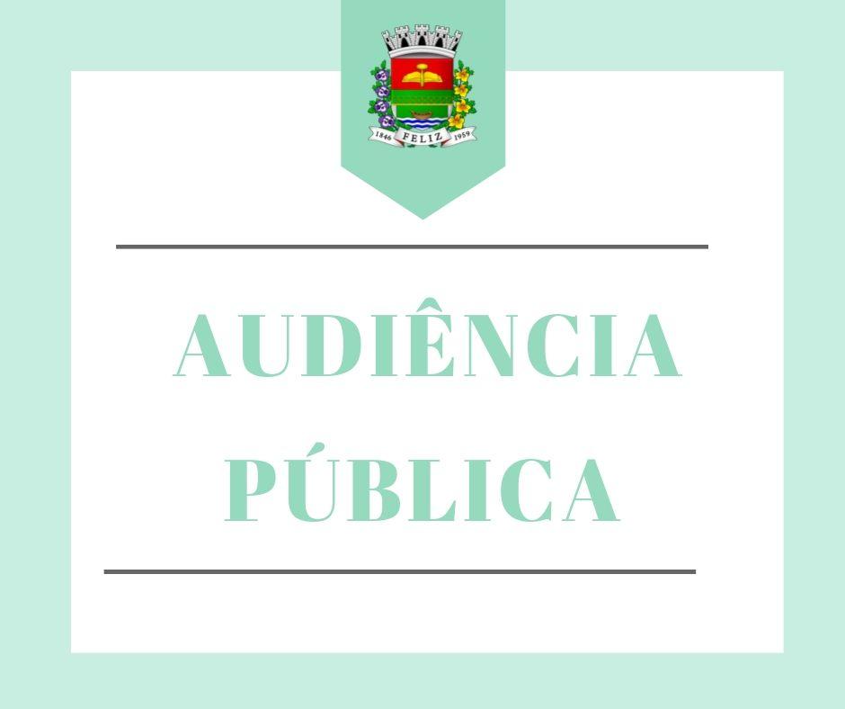 COMUNICADO - Audiência Pública da apresentação do Projeto de Lei do Orçamento Anual - LOA 2021