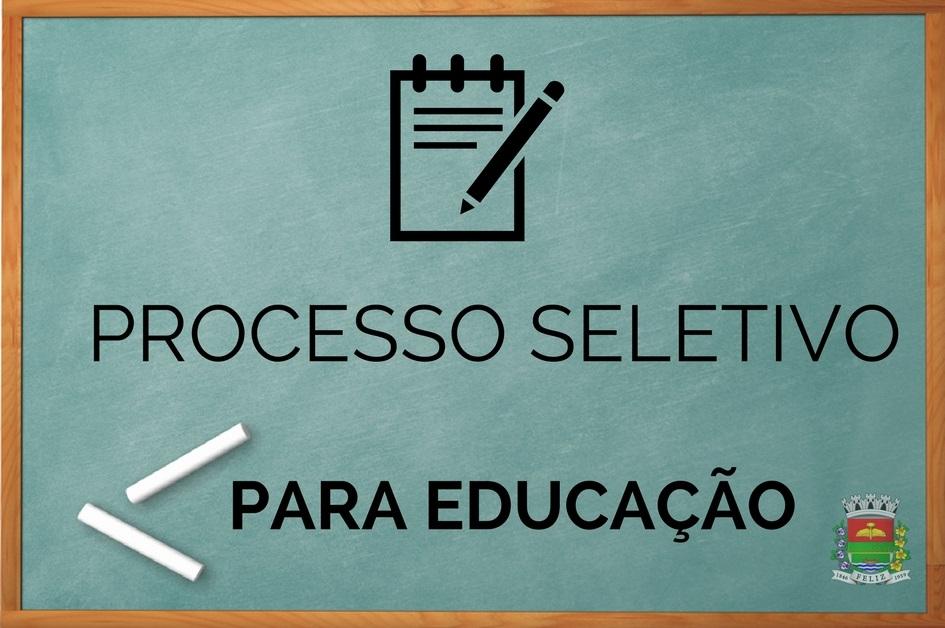 Educação está com inscrições abertas para Processo Seletivo