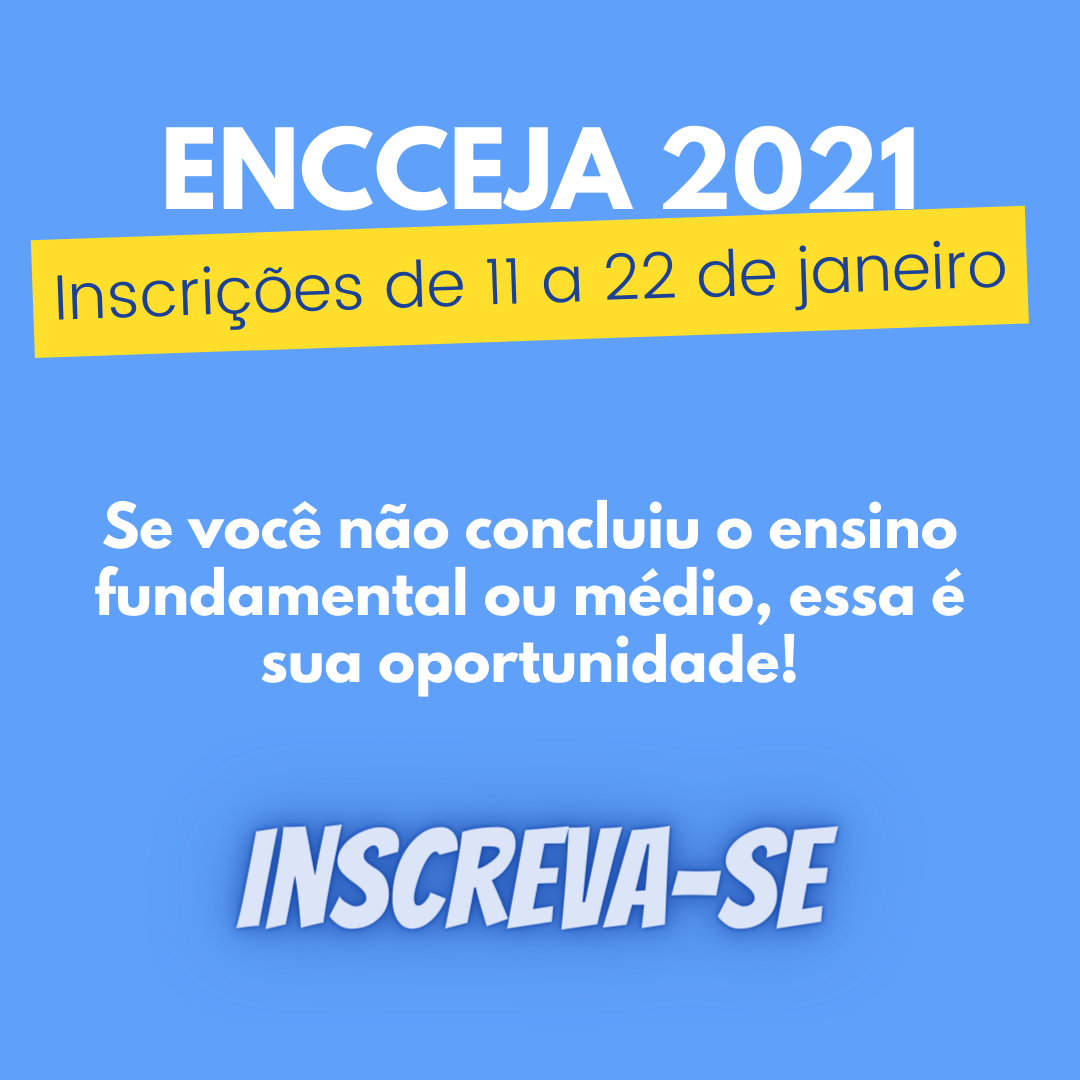 Inscrições abertas para o ENCCEJA