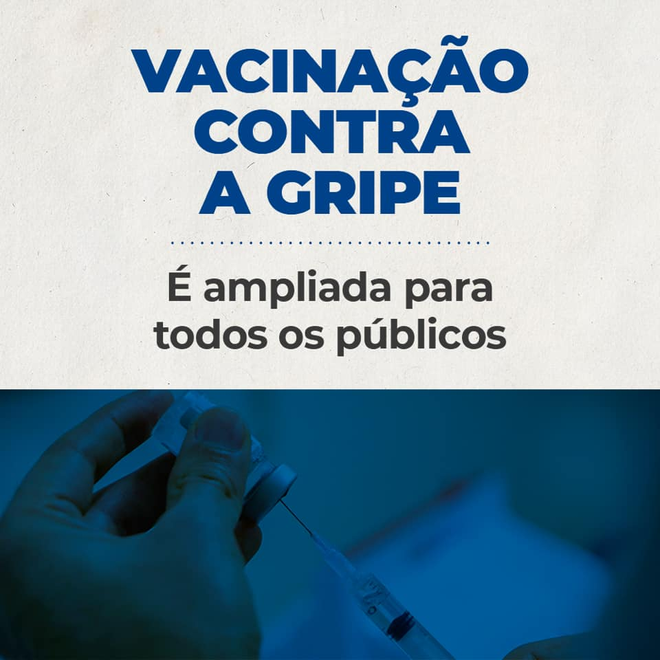 Secretaria da Saúde amplia vacinação contra gripe à população em geral