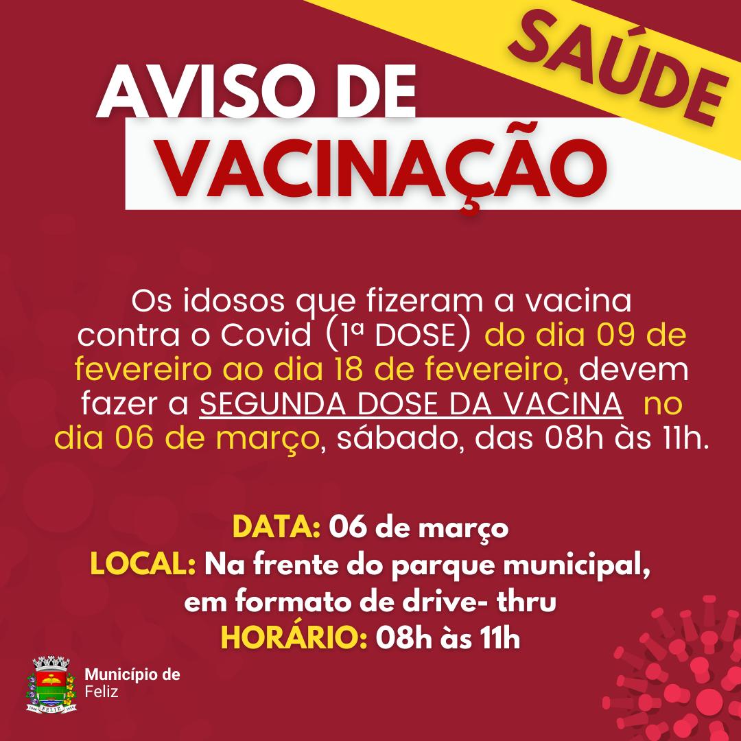 Vacinação da 2ª dose para os IDOSOS