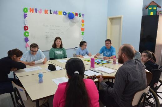 Atividades realizadas com alunos da Apae