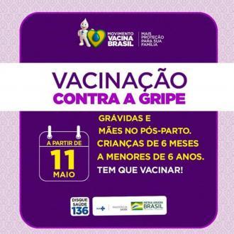 Atenção. Posto de Saúde aberto neste sábado para vacinação