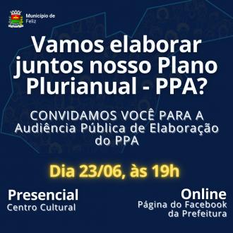 Audiência Pública paraelaboração do Plano Plurianual