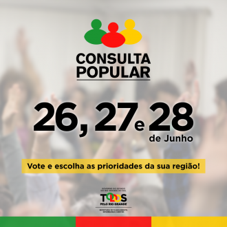 Consulta Popular ocorre nos dias 26,27 e 28