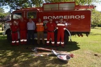 Corpo de Bombeiros recebe doações de ferramentas