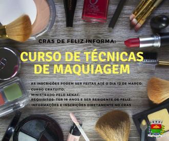 Curso de Técnicas de Maquiagem está com inscrições abertas