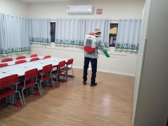 Escolas Municipais recebem sanitização