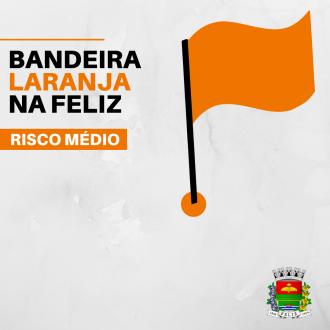 Feliz está na Bandeira Laranja