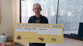 Ganhador da Nota Fiscal Gaúcha Municipal retirou prêmio