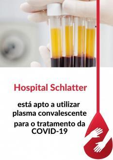 Hospital Schlatter está apto a utilizar plasma convalescente para o tratamento da COVID-19