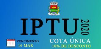 Prazo para IPTU com desconto é até 16 de março