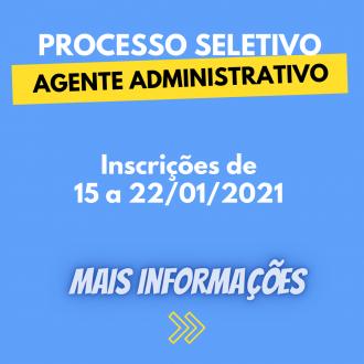 Processo seletivo para Agente Administrativo