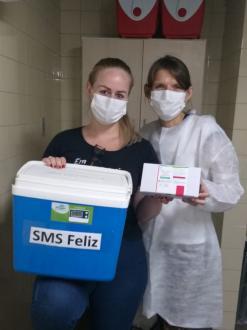 Saúde recebe 2º lote de vacinas